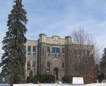 Principle façade of the Fergus District High School as seen from Tower St. South; Lindsay Benjamin, 2007