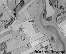 Aerial view shows trees have disappeared; Province of PEI, 2000