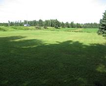 Showing overview of cemetery with highway on left; Bill Glen, PEI Genealogical Society, 2007