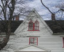 Central gable, Campbell-Rose House, Strathlorne, Nova Scotia, 2002.; Inverness County Heritage Advisory Committe, 2002.