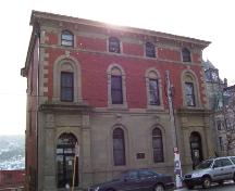 Exterior photo of front facade, 287 Duckworth Street, St. John's. Taken February 2005.; HFNL 2005