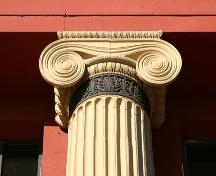 Column detail of the Dominion Bank Building, Winnipeg, 2007; Historic Resources Branch, Manitoba Culture, Heritage, Tourism and Sport, 2007