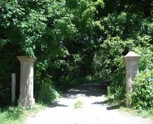 Featured are the entrance gates to Park Farm.; Kendra Green, 2007.