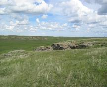 Women's Buffalo Jump Provincial Historic Resource, near Cayley (May 2004); Alberta Culture and Community Spirit, Historic Resources Management