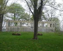 Featured is the Pergola's situation in St. Andrews Park.; Kayla Jonas, 2007.