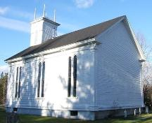 Rear and side elevations, River Philip United Church, River Philip, NS, 2009.; Heritage Division, NS Dept of Tourism, Culture and Heritage, 2009
