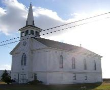 Front and west elevations, Advocate United Church, Advocate Harbour, NS, 2009.; Heritage Division, NS Dept of Tourism, Culture and Heritage, 2009