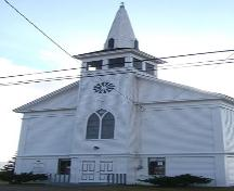 Front elevation detail, Advocate United Church, Advocate Harbour, NS, 2009.; Heritage Division, NS Dept of Tourism, Culture and Heritage, 2009