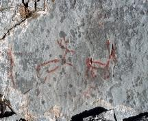 Zephyr Creek Pictographs, near Longview (date unknown); Alberta Culture and Community Spirit - Royal Alberta Museum, date unknown