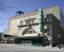 Primary elevation, from the northeast, of the Walker Theatre, Winnipeg, 2006; Historic Resources Branch, Manitoba Culture, Heritage, Tourism and Sport, 2006