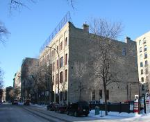 Contextual view, from the southeast, of the MacKenzie Block(the four-bay section on the left-hand side of the complex, adjoining the Swiss Building), Winnipeg, 2007; Historic Resources Branch, Manitoba Culture, Heritage, Tourism and Sport, 2007