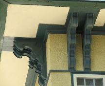 Italianate-style brackets under eaves, 2008.; Herrington, 2008.