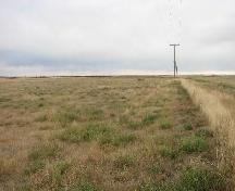 View southeast across site area, currently a hay field, 2007.; Government of Saskatchewan, Marvin Thomas, 2007.