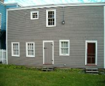Quaker House, Dartmouth, rear elevation, 2004; Heritage Division, NS Dept. Tourism, Culture and Heritage