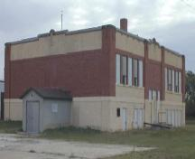 Exterior view of the 1923 portion of Sedley School, 2003.; Government of Saskatchewan, B. Dawson, 2003