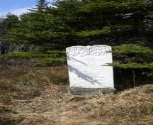 Photo of marble headstone, Salvation Army Cemetery, Arnold's Cove, NL, 2008; Courtesy of Iris Brett, 2008