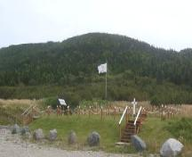 Photo of Captain Coubelongue Grave Site, Conche, NL, 2004; FSHS/HFNL, 2008