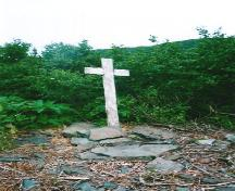 Photo showing the Captain Coubelongue Grave Site, Conche, NL, circa 2003; FSHS/HFNL 2008