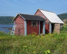 William and Cecilia O'Neill Property, Conche, NL, showing outbuildings (store and stable), 2006; Joan Woodrow/HFNL 2008