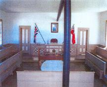 View of the interior of the Argyle Township Court House, showing the surviving interior forms, furnishings and fittings, 2003.; Parks Canada Agency / Agence Parcs Canada, Scott Muise, 2003.