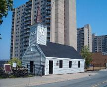 Front and north elevations, Little Dutch Church, Halifax, NS, 2004.; Heritage Division, NS Dept. of Tourism, Culture and Heritage, 2004