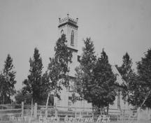 Archive image of church and grounds; Marion Clark Collection