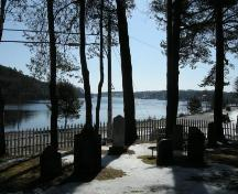 View of cemetery looking towards harbour, Bayview Cemetery, Mahone Bay, NS, 2009.; Heritage Division, NS Dept. of Tourism, Culture and Heritage, 2009