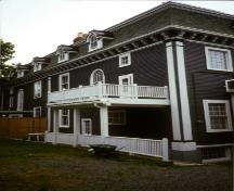 View of rear facade, 3 Park Place, St. John's, NL.  Photo taken 1990s.; HNFL 2007
