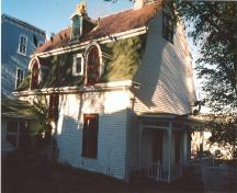 West view of 7 Monkstown Road, rear facade.  Photo taken 1990s.; HFNL 2007