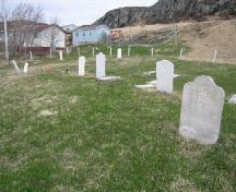 View of graves and markers, taken 2007; Town of St. Anthony, 2008