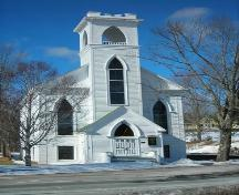 Front elevation, Trinity United Church, Mahone Bay, 2009.; Heritage Division, NS Dept. of Tourism, Culture and Heritage, 2009