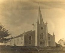 Front elevation, United Baptist Church, Mahone Bay, NS, circa 1885.; Courtesy of United Baptist Church, Mahone Bay
