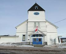 Front elevation of St. Mark's Masonic Lodge, Baddeck, NS, 2009.; Dept. of Tourism, Culture and Heritage, Province of NS, 2009