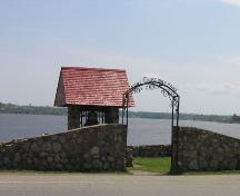 Causeway Park Arch - in background, structure housing the original bell from the Old Post Office; City of Bathurst