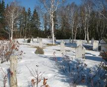 Overview of cemetery; PEI Genealogical Society, 2008