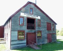 Front elevation, including signage, Sutherland Steam Mill Museum, Denmark, NS, 2006.; Dept. of Tourism, Culture and Heritage, Province of Nova Scotia, 2006