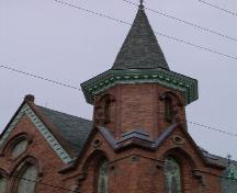 Spire, Fort Massey United Church, Halifax, Nova Scotia, 2004. ; Heritage Division, NS Dept. of Tourism, Culture and Heritage, 2004