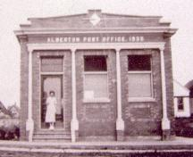 Showing Alberton Post Office, c 1936; Alberton Museum Collection