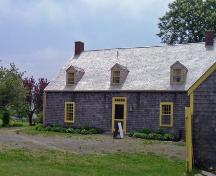 Rear elevation, including rear of garage on right, of the North Hills Museum, Granville Ferry, NS, 2008.; Dept. of Tourism, Culture and Heritage, Province of Nova Scotia, 2008