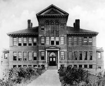 Historic view of Stuart Wood School, 1907; City of Kamloops Museum and Archives #7321