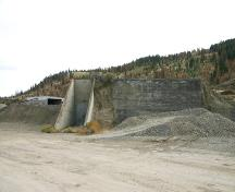 Exterior view of Naval Ammunition Depot bunker; City of Kamloops, 2007