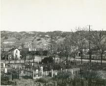 Historic view of Pioneer Cemetery, 1884; City of Kamloops Museum and Archives #3446
