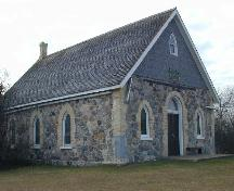 Poplar Grove United Church, Northeast elevation, 2004; Government of Saskatchewan, Brett Quiring, 2004