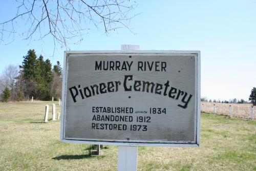 Showing cemetery sign