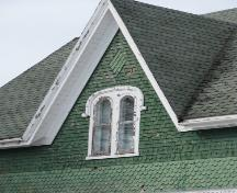 Detail of dormer with Italianate style window; Wyatt Heritage Properties, 2009
