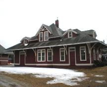 Rear elevation, Chester Train Station, Chester, Nova Scotia, 2007.; Heritage Division, Nova Scotia Department of Tourism, Culture and Heritage, 2007