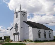 Front elevation with profile of Old Trunk 3 elevation, St. Peter's Lutheran Church, Chester, Nova Scotia, 2007.; Heritage Division, Nova Scotia Department of Tourism, Culture and Heritage, 2007