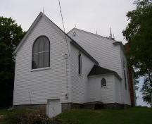 King Street elevation, St. Stephen's Anglican Church, Chester, Nova Scotia, 2007.; Heritage Division, Nova Scotia Department of Tourism, Culture and Heritage, 2007