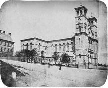 View of the Basilica shortly after construction, ca. 1860.; Memorial University of Newfoundland 2007