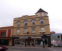 View of the main facade of the Grace Building, 283-285 Water Street, St. John's, NL.  Photo taken July 2006.; HFNL/Deborah O'Rielly 2006